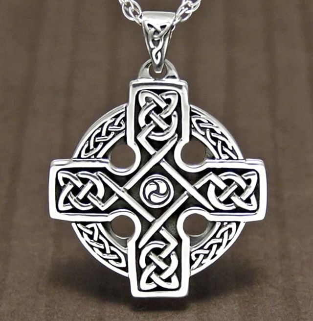Silver Eternal Celtic Cross