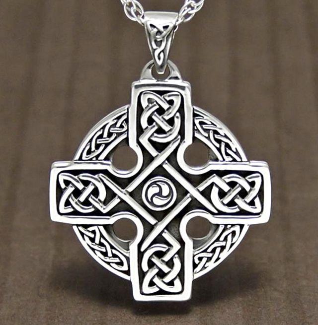 Silver Eternal Celtic Cross