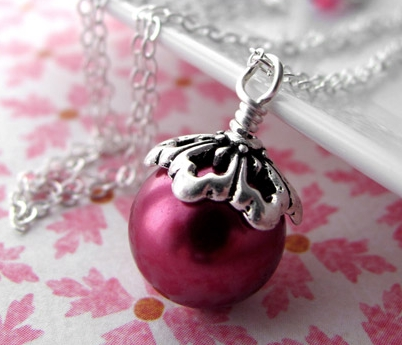 Sterling Silver Glass Necklace