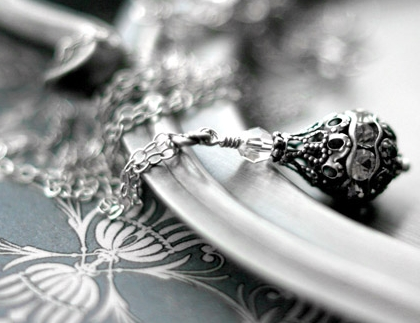 Vintage Style Crystal Necklace by Shy Siren Jewelry